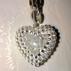 Tarina Tarantino Pave Heart Necklace.